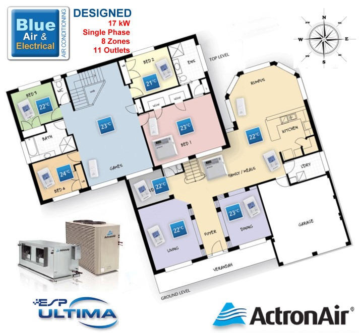 Ducted Air Conditioning Systems Blue Air Amp Electrical